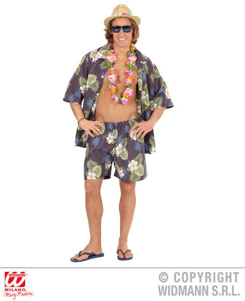 fd1c4fd070 ... Adults Hawaiian Shirt, Shorts Dress-Up Set Hawaiian Fancy Dress